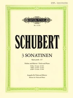 Schubert: Three Sonatinas, Op.post 137