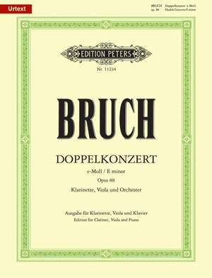 Bruch, M: Double Concerto for Clarinet (Violin), Viola & Orchestra