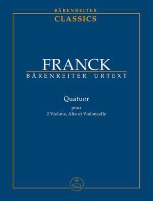 Franck, C: String Quartet (Urtext)