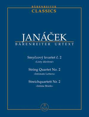 Janacek, L: String Quartet No.2 (Intimate Letters) (1928) (Urtext)