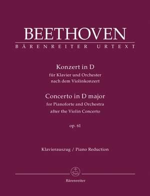 Beethoven, L van: Concerto for Piano after the Violin Concerto, Op.61 (Urtext)