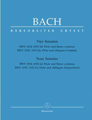 Bach, JS: Sonatas (4) (BWV 1030 B min; BWV 1032 A maj; BWV 1034 E min; BWV 1035 E maj.) (Urtext)