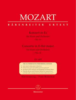 Mozart, WA: Concerto for Horn No.4 in E-flat (K.495) (Urtext)