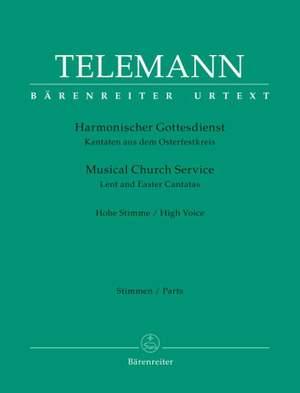Telemann: Harmonischer Gottesdienst - Lent and Easter Cantatas (High Voice)