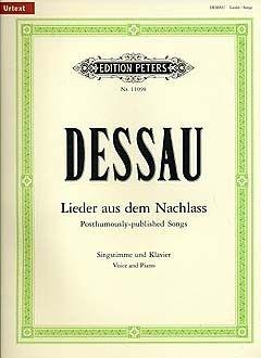 Dessau, P: Posthumously published Somgs