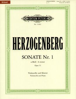 Herzogenberg, H: Cello Sonata No.1 in A minor Op.52