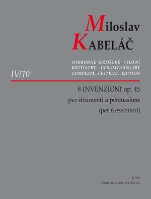 Kabelac, M: Invenzioni (8), Op.45 Product Image