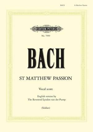 Bach, J.S: St. Matthew Passion BWV 244 Product Image