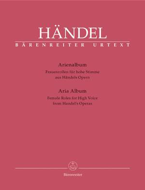 Handel, GF: Aria Album. Female Roles for High Voice from Handel's Operas (It) (Urtext)