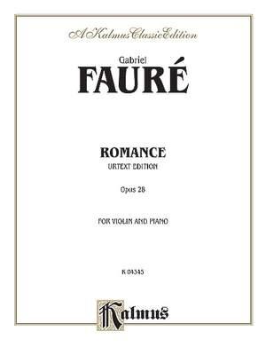 Gabriel Fauré: Romance, Op. 28 (Urtext)