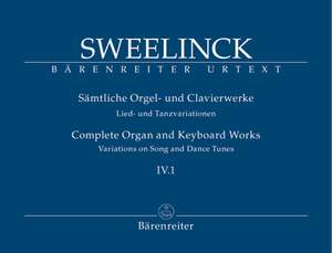 Sweelinck, J: Organ and Keyboard Works Complete, Vol.4/1 (New Edition) (Urtext) Variations on Song and Dance Tunes (Part 1) Product Image