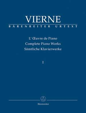 Vierne, L: Piano Works Vol. 1: The Early Works (1893-1900) (Urtext)