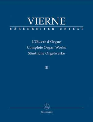 Vierne, L: Organ Works Vol. 3: Symphonie No.3, Op.28 (Urtext)