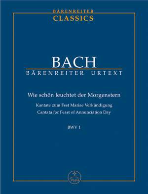 Bach, JS: Cantata No. 1: Wie schoen leuchtet der Morgenstern (BWV 1) (Urtext)