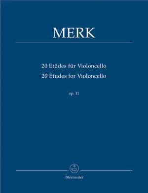 Merk, J: Etudes (20) for Violoncello, Op.11