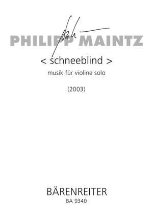 Maintz, P: schneeblind (2003)