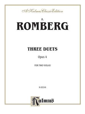Andreas Jakob Romberg: Three Duets, Op. 4 Product Image