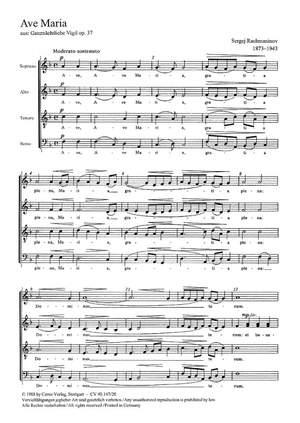 Rachmaninov: Ave Maria; Gluck: De profundis