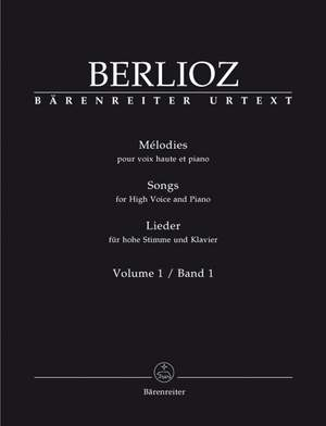 Berlioz, H: Songs for High Voice and Piano, Vol. 1 (Urtext)