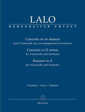 Lalo, E: Concerto for Violoncello in D minor (Urtext)