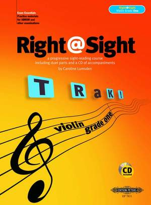Lumsden, C: Right@Sight for Violin, Grade 1 (includes duet parts and a CD of accompaniments)