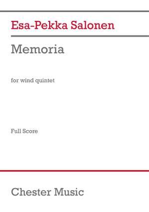 Esa-Pekka Salonen: Memoria for Wind Quintet