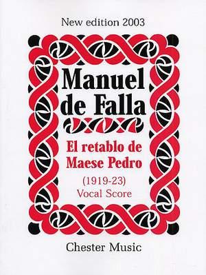 Manuel de Falla: El Retablo De Maese Pedro