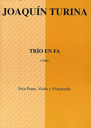 Joaquín Turina: Trio En Fa (Score/Parts)