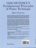 Marie Prentner: Leschetizky's Fundamental Principles Of Piano Product Image