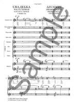 Igor Stravinsky: Les Noces (Russian / French) Vocal Score Product Image