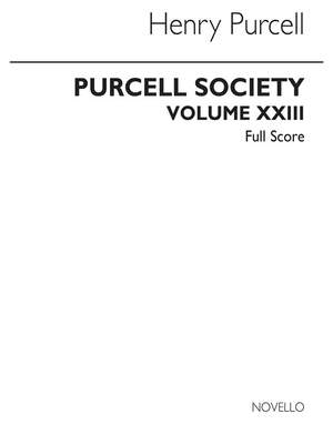 Henry Purcell: Purcell Society Volume 23 - The Services