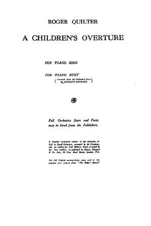Roger Quilter: A Children's Overture
