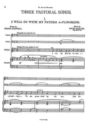 Roger Quilter: Three Pastoral Songs Op22
