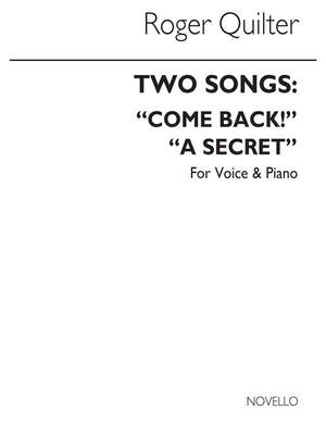 Roger Quilter: Two Songs In B Flat For Voice And Piano