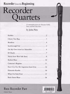 Recorder Quartets: Bass Recorder Part