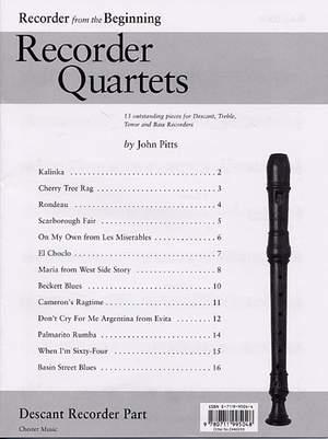 Recorder Quartets: Descant Recorder Part
