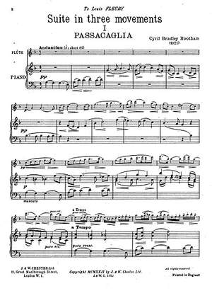Cyril Bradley Rootham: Rootham Suite In Three Movements Flute/Piano