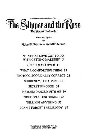 Richard M.  Sherman_Robert B. Sherman: Selections from The Slipper and the Rose