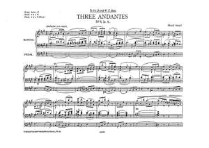 Henry Smart: Three Andantes (In A F And C)