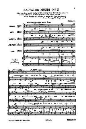 Thomas Tallis: Salvator Mundi (2nd Setting)