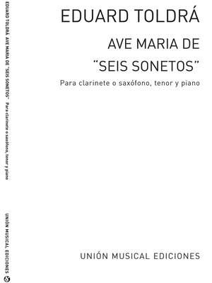 Ave Maria (Amaz) For Tenor Saxophone
