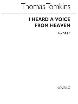 Thomas Tomkins: I Heard A Voice From Heaven