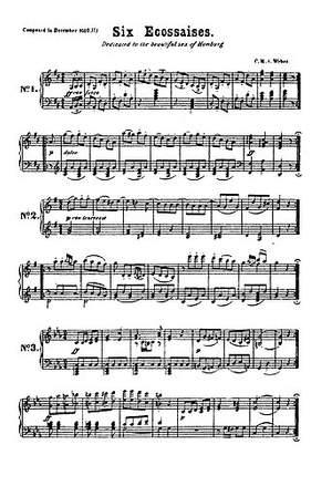 Carl Maria von Weber: Six Ecossaises For String Quartet