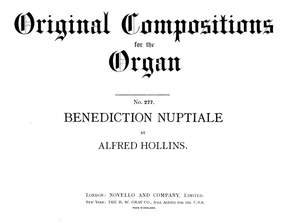 Alfred Hollins: Benediction Nuptiale