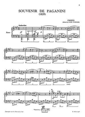 Frédéric Chopin: Souvenir De Paganini