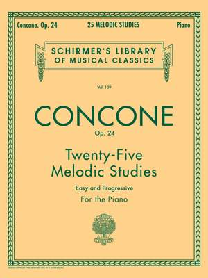 Giuseppe Concone: 25 Melodic Studies, Op. 24
