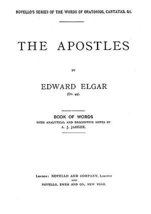 Edward Elgar: The Apostles - Words With Analytical Notes
