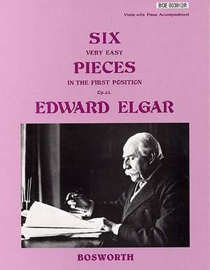 Edward Elgar: Six Very Easy Pieces For Violin Op.22