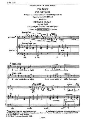 Edward Elgar: The Snow