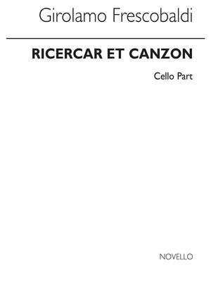 Girolamo Frescobaldi: Frescobaldi Ricercar Et Canzon Cello